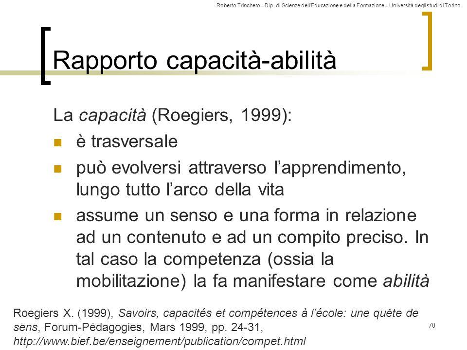 Rapporto capacità-abilità