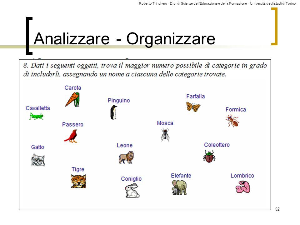 Analizzare - Organizzare