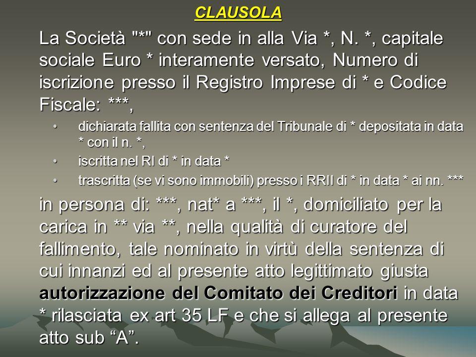 CLAUSOLA