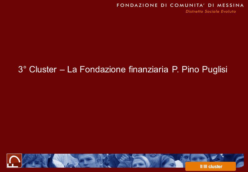 3° Cluster – La Fondazione finanziaria P. Pino Puglisi