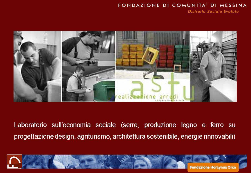 Laboratorio sull'economia sociale (serre, produzione legno e ferro su progettazione design, agriturismo, architettura sostenibile, energie rinnovabili)