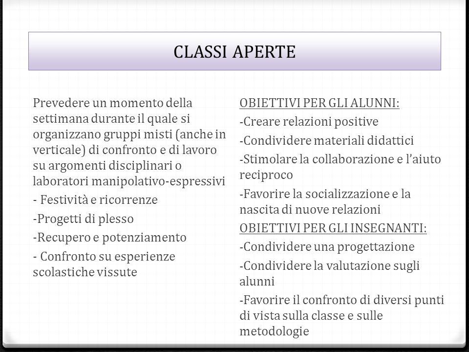 CLASSI APERTE