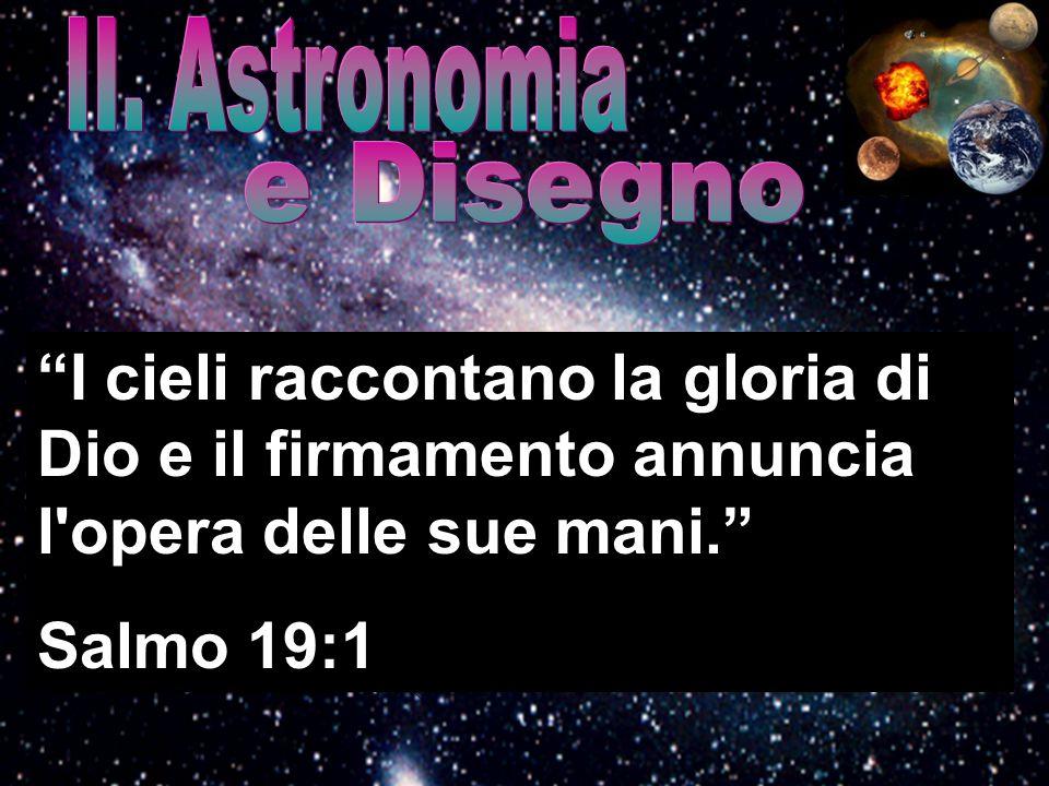 II. Astronomia e Disegno. I cieli raccontano la gloria di Dio e il firmamento annuncia l opera delle sue mani.