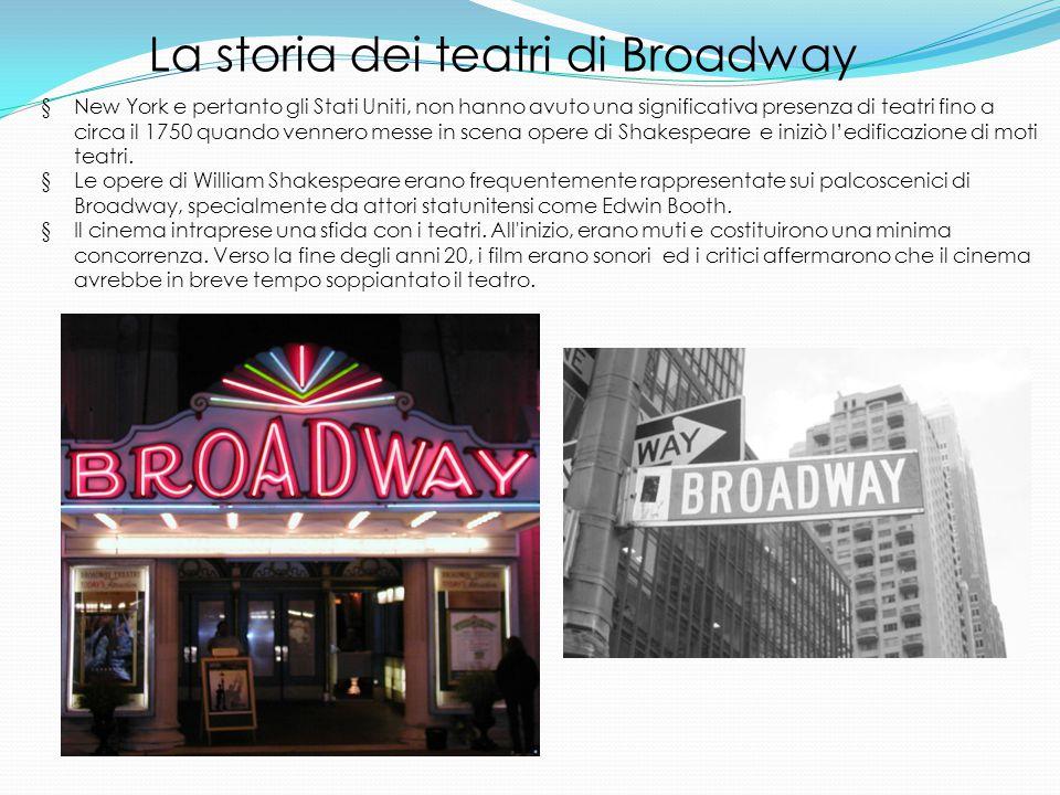 La storia dei teatri di Broadway