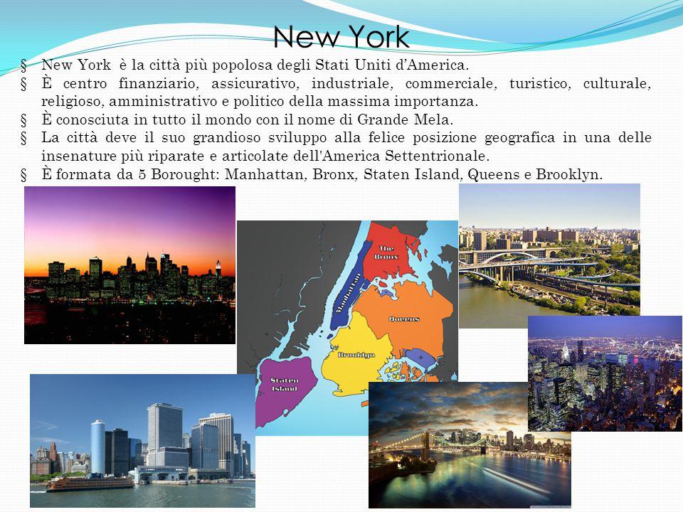 New York New York è la città più popolosa degli Stati Uniti d'America.