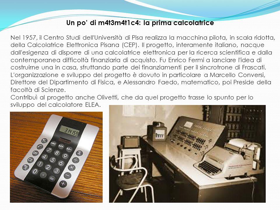 Un po' di m4t3m4t1c4: la prima calcolatrice