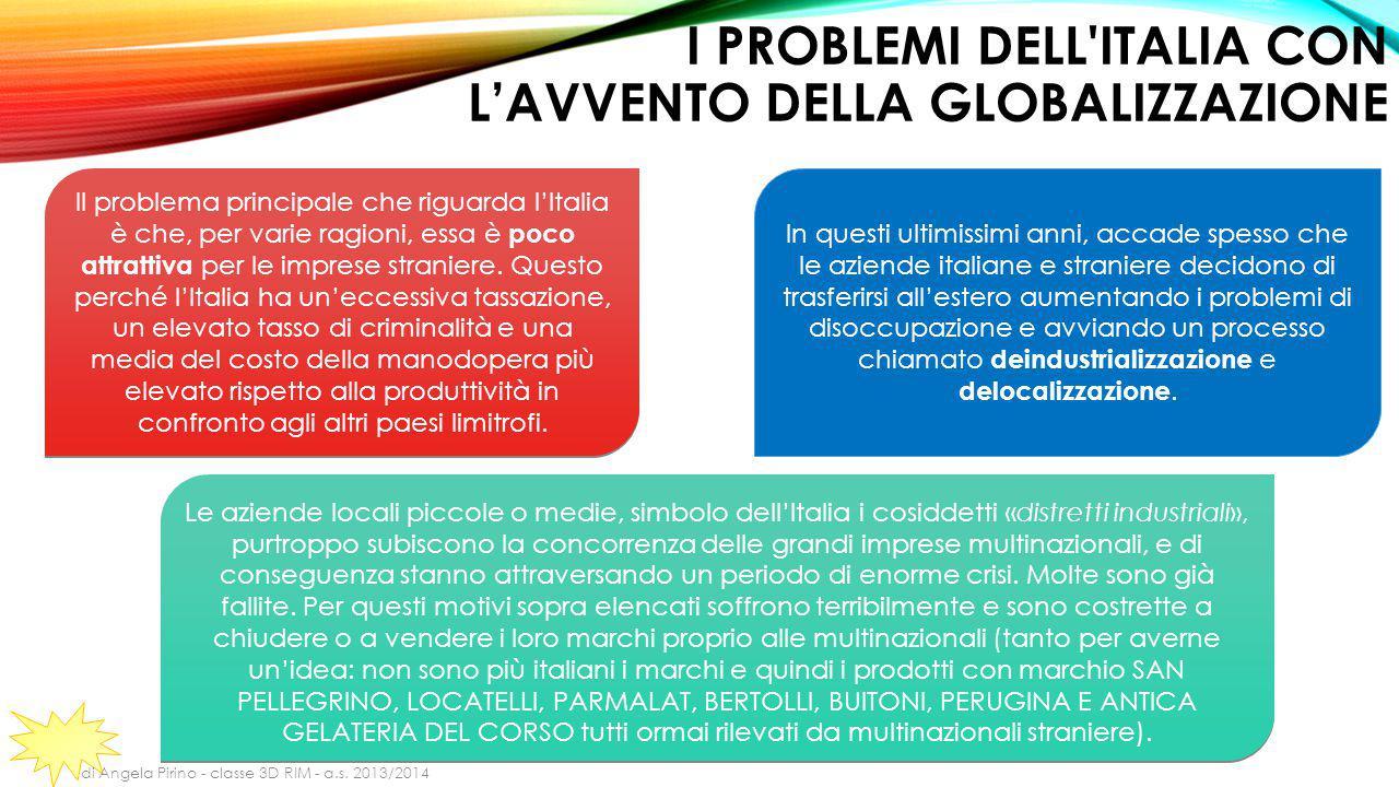 I problemi dell Italia con l'avvento della globalizzazione
