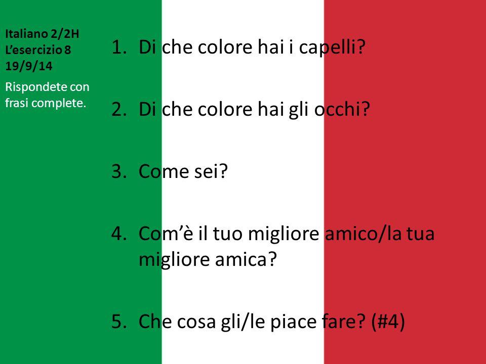 Italiano 2/2H L'esercizio 8 19/9/14