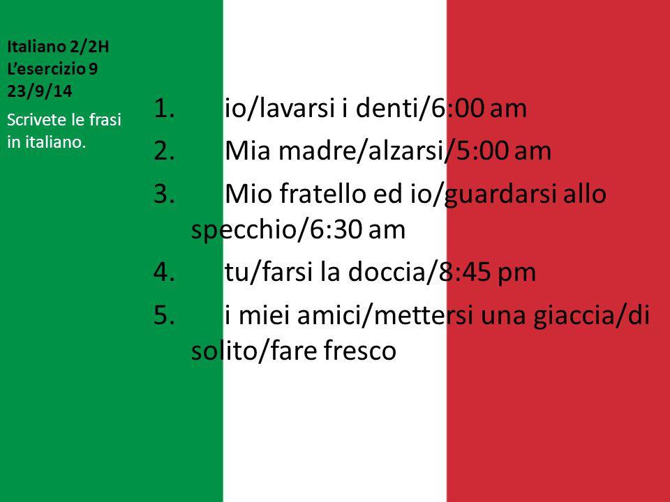 Italiano 2/2H L'esercizio 9 23/9/14
