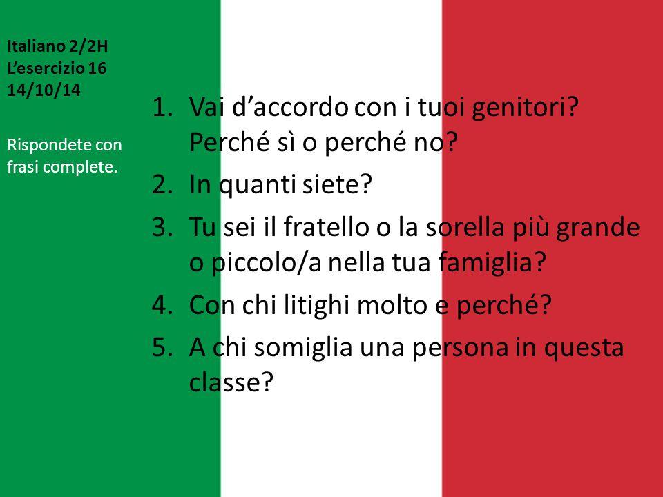 Italiano 2/2H L'esercizio 16 14/10/14