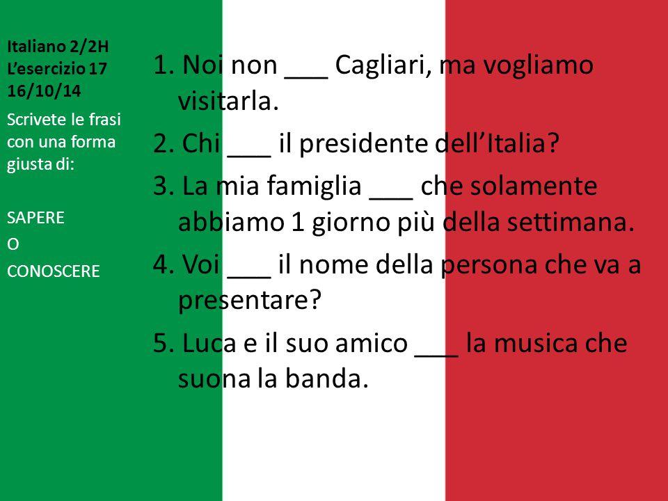 Italiano 2/2H L'esercizio 17 16/10/14