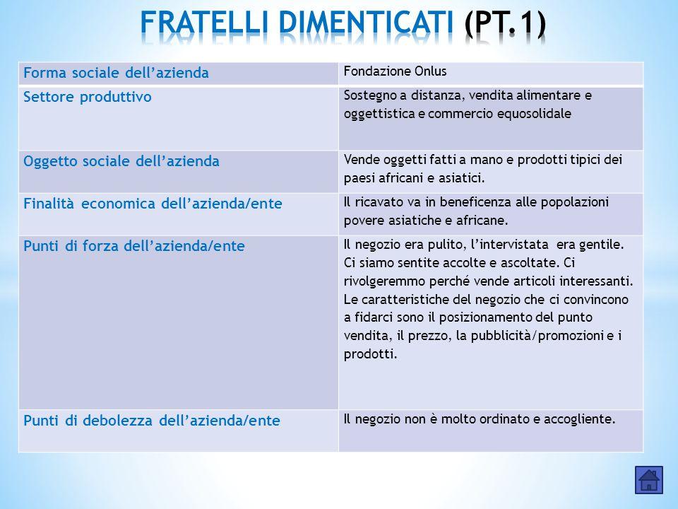 FRATELLI DIMENTICATI (PT.1)
