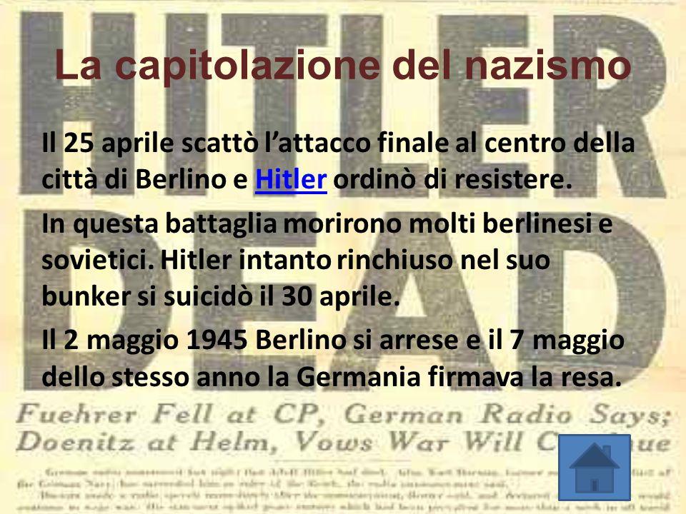 La capitolazione del nazismo