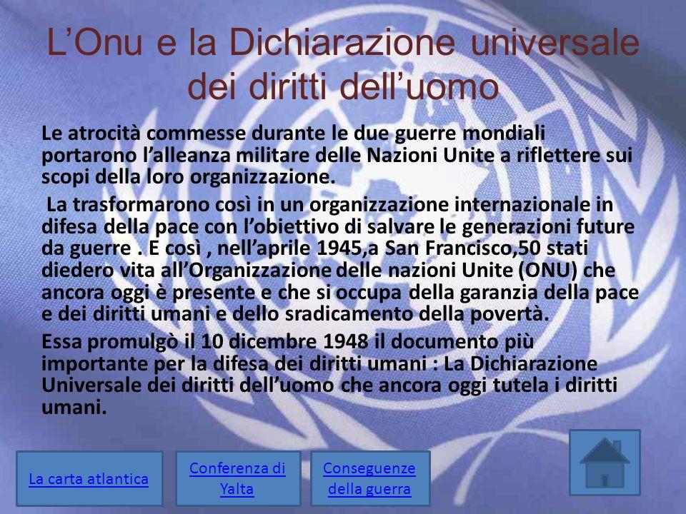 L'Onu e la Dichiarazione universale dei diritti dell'uomo
