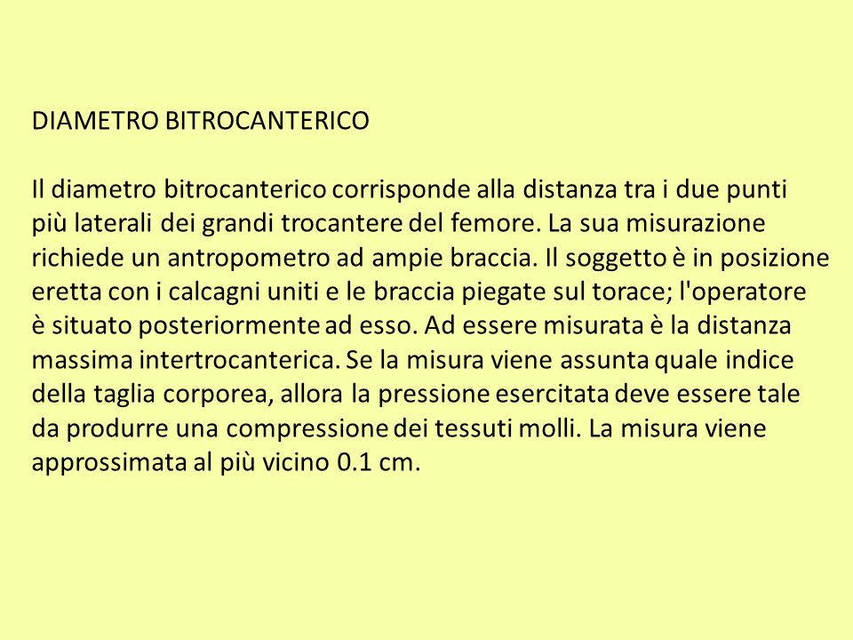 DIAMETRO BITROCANTERICO