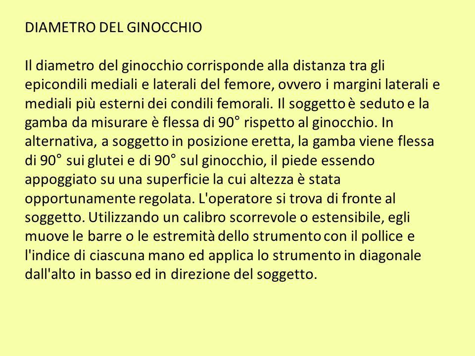 DIAMETRO DEL GINOCCHIO