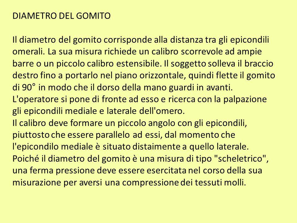 DIAMETRO DEL GOMITO