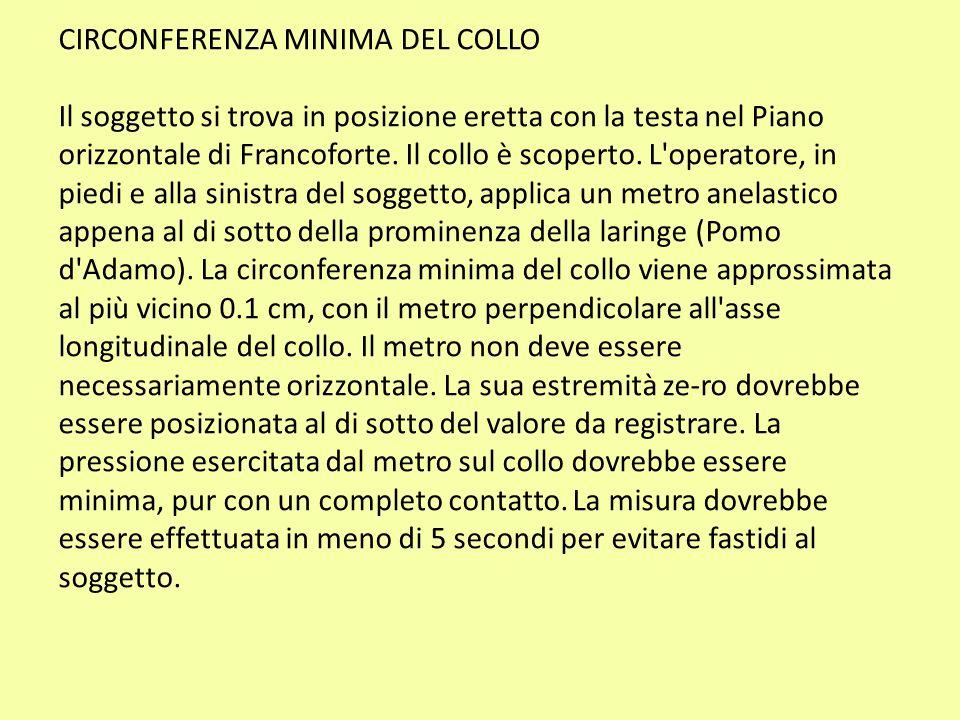 CIRCONFERENZA MINIMA DEL COLLO