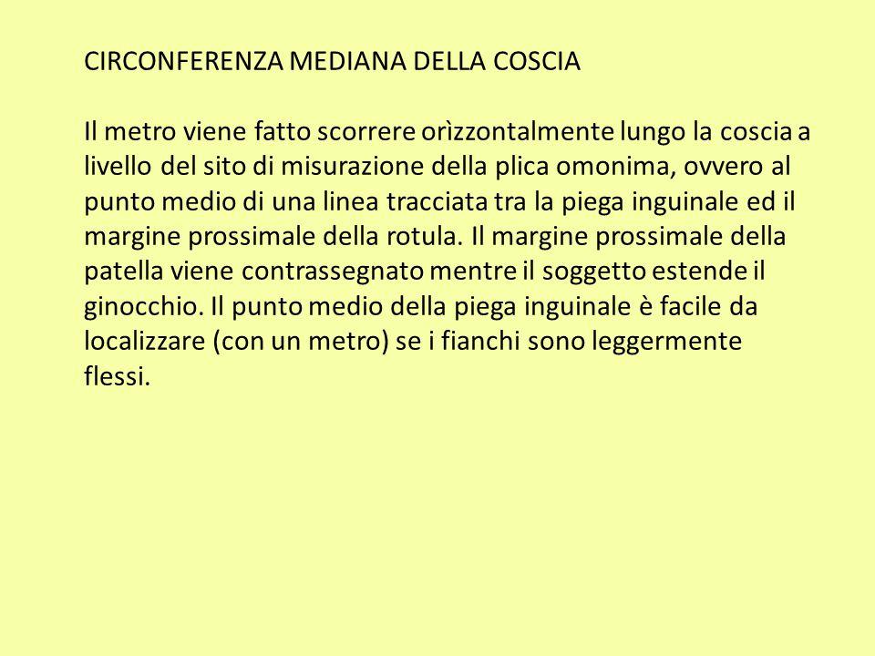 CIRCONFERENZA MEDIANA DELLA COSCIA