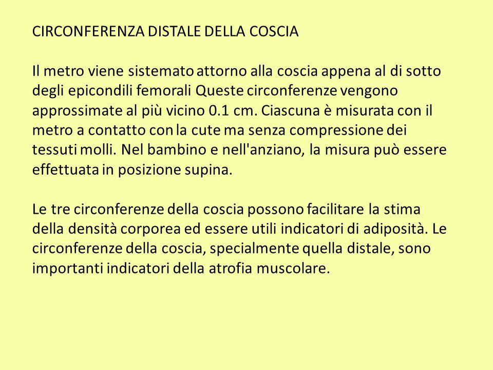 CIRCONFERENZA DISTALE DELLA COSCIA