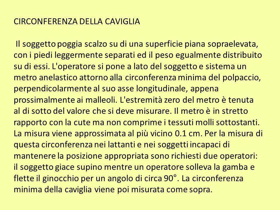 CIRCONFERENZA DELLA CAVIGLIA