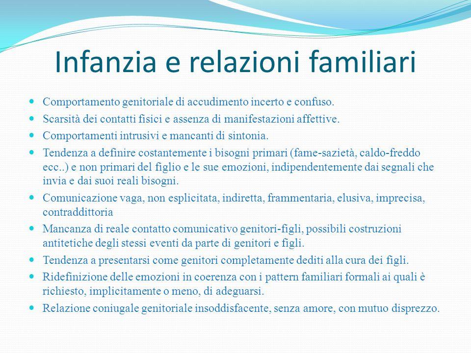 Infanzia e relazioni familiari