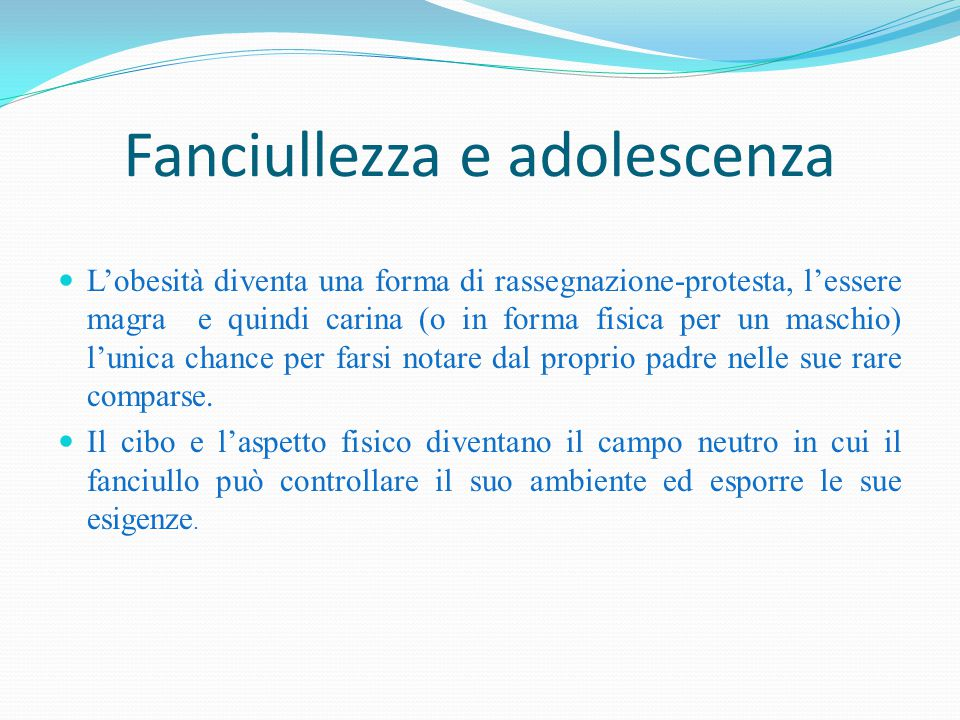 Fanciullezza e adolescenza