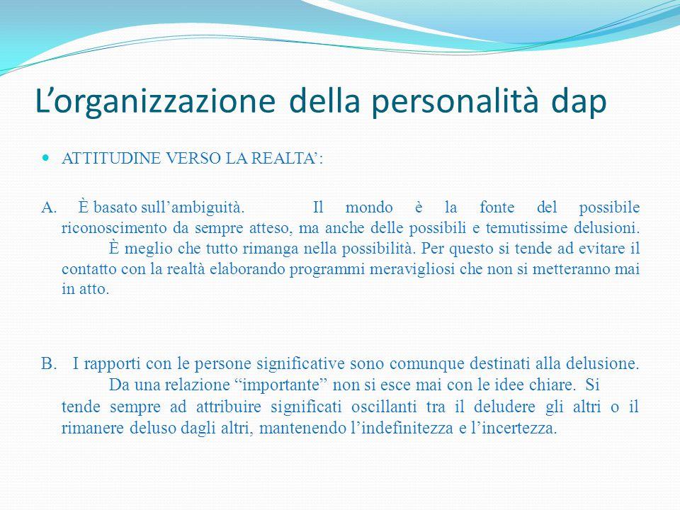 L'organizzazione della personalità dap