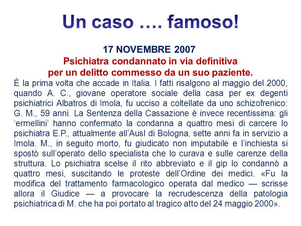 Un caso …. famoso! 17 NOVEMBRE 2007
