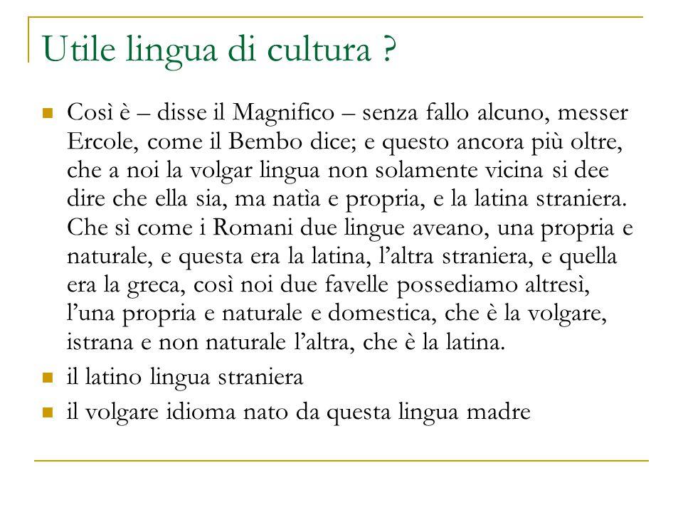 Utile lingua di cultura