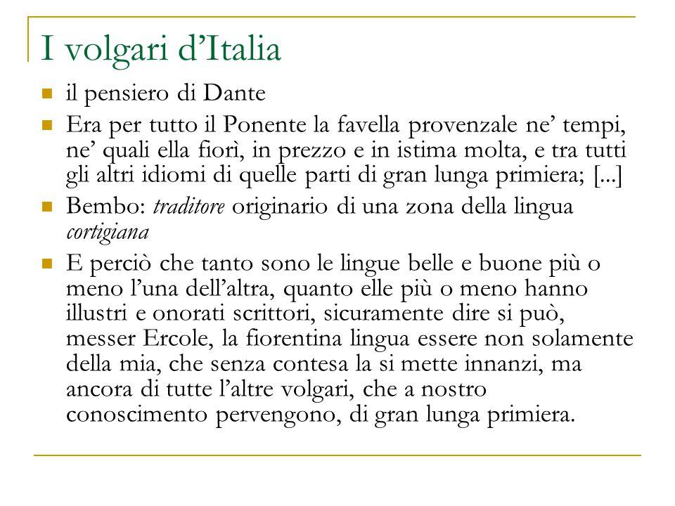 I volgari d'Italia il pensiero di Dante