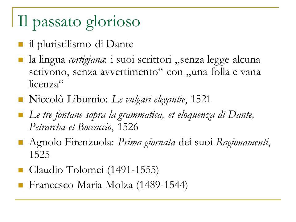 Il passato glorioso il pluristilismo di Dante