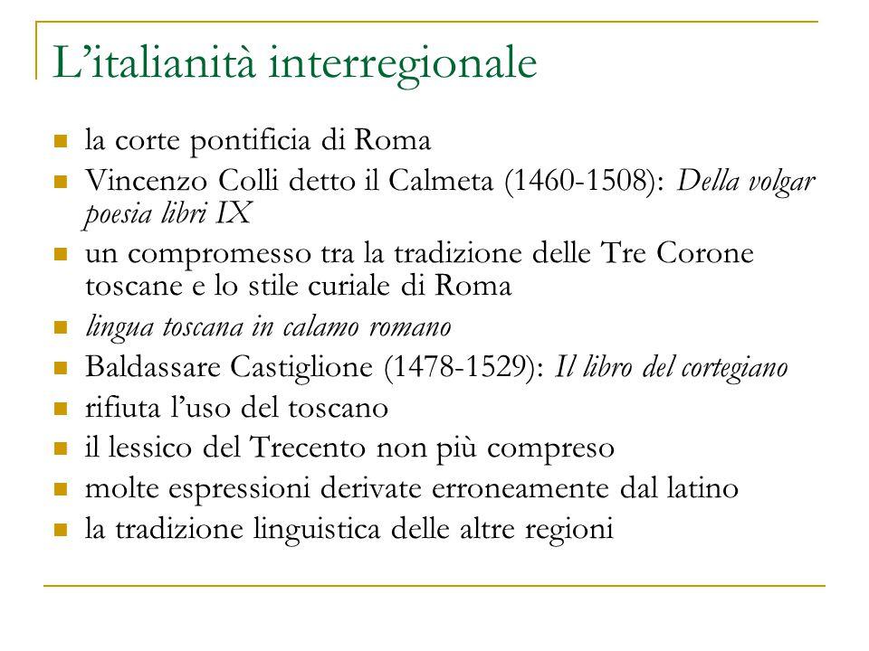 L'italianità interregionale