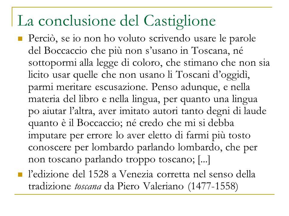 La conclusione del Castiglione