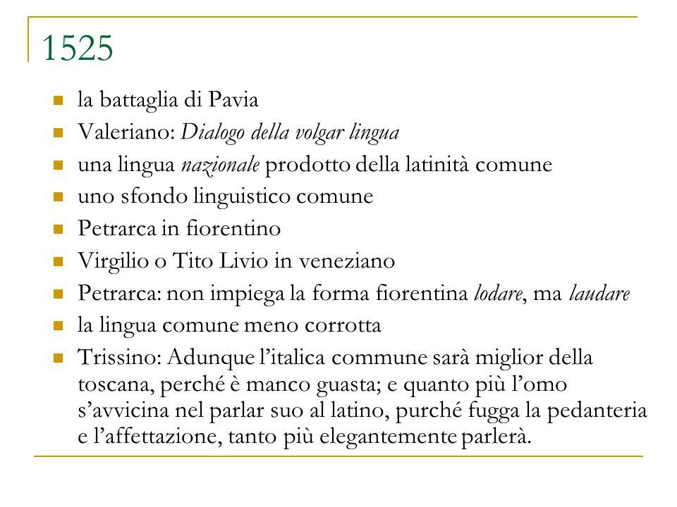1525 la battaglia di Pavia Valeriano: Dialogo della volgar lingua