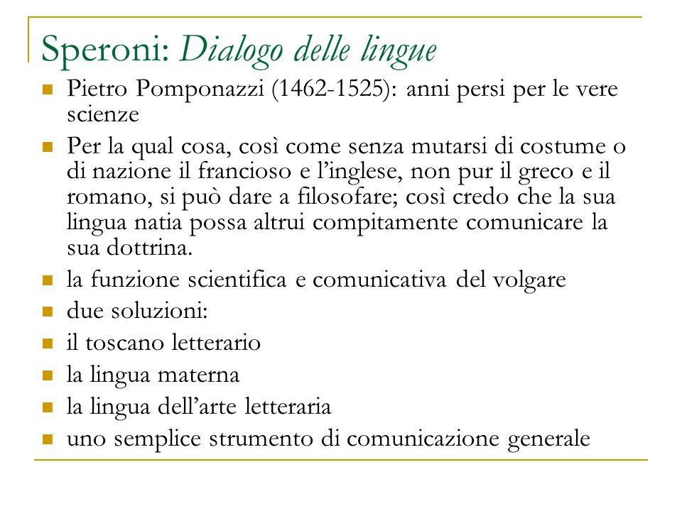 Speroni: Dialogo delle lingue