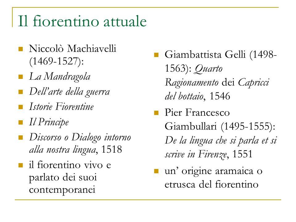 Il fiorentino attuale Niccolò Machiavelli (1469-1527):