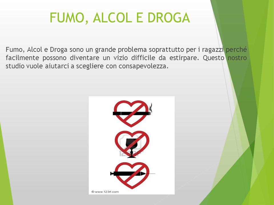 FUMO, ALCOL E DROGA