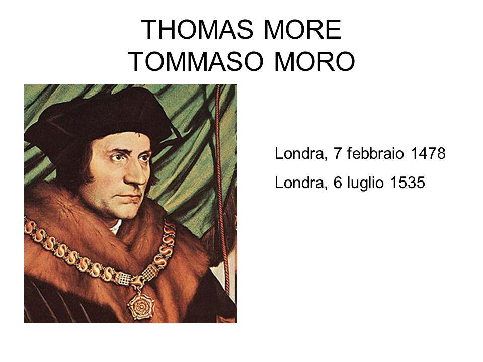 THOMAS MORE TOMMASO MORO