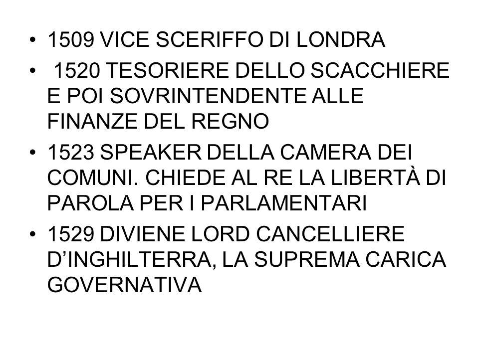 1509 VICE SCERIFFO DI LONDRA