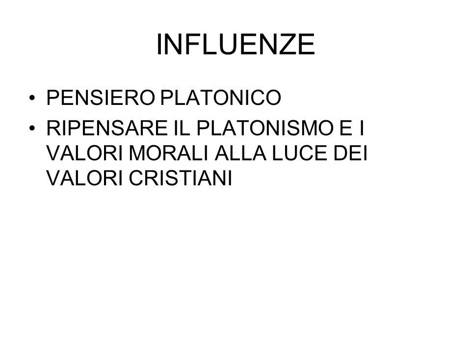 INFLUENZE PENSIERO PLATONICO