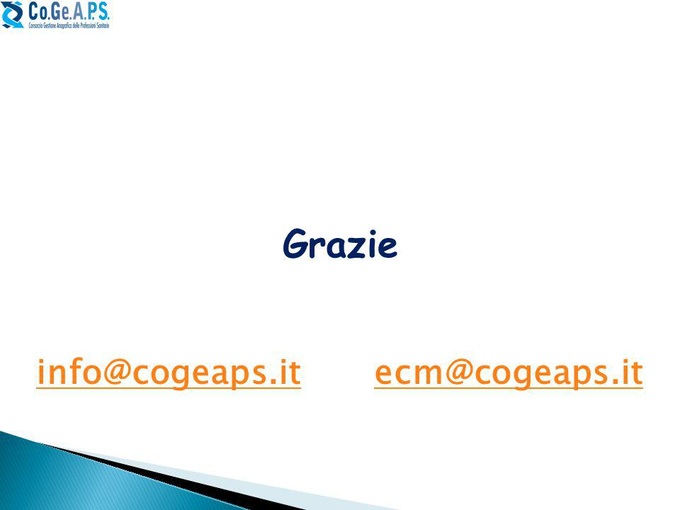 Grazie info@cogeaps.it ecm@cogeaps.it