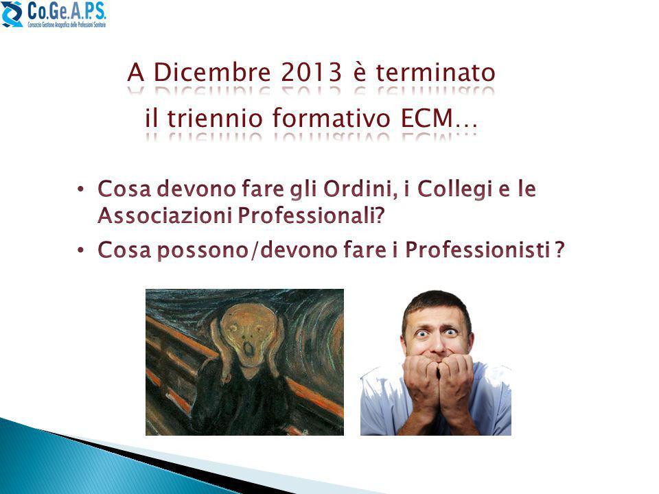 il triennio formativo ECM…
