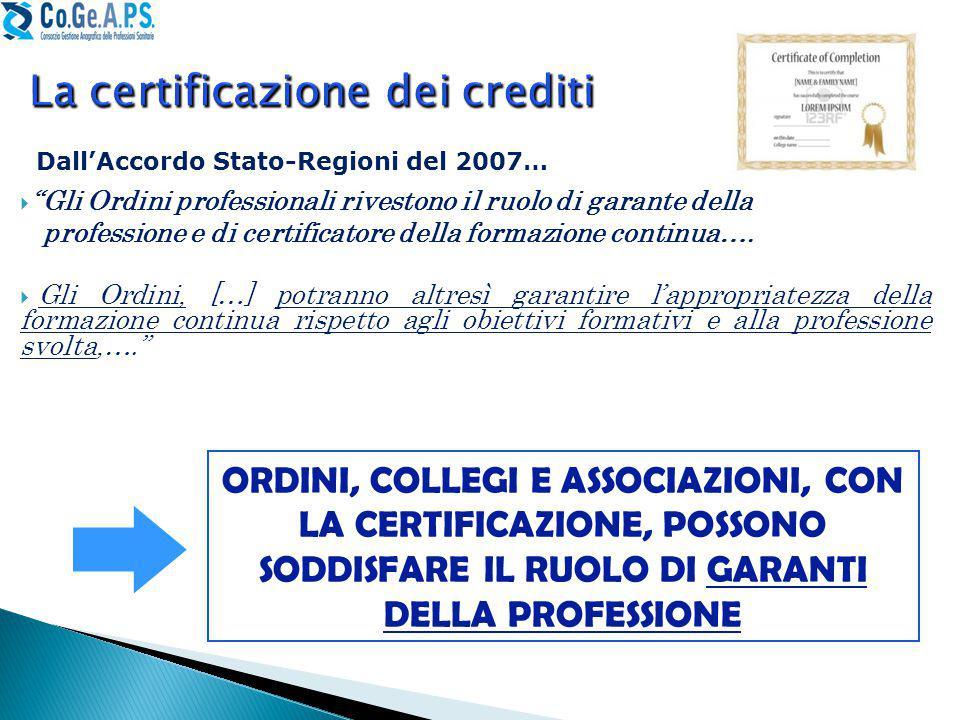La certificazione dei crediti