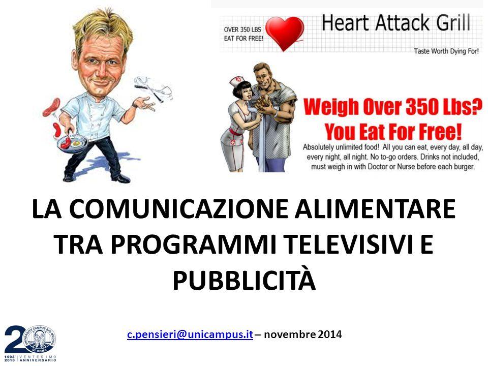 LA COMUNICAZIONE ALIMENTARE TRA PROGRAMMI TELEVISIVI E PUBBLICITÀ