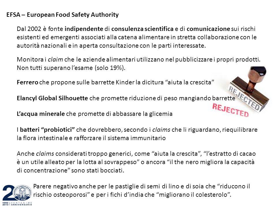 EFSA – European Food Safety Authority