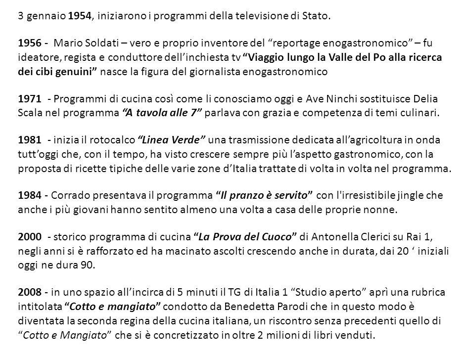 3 gennaio 1954, iniziarono i programmi della televisione di Stato