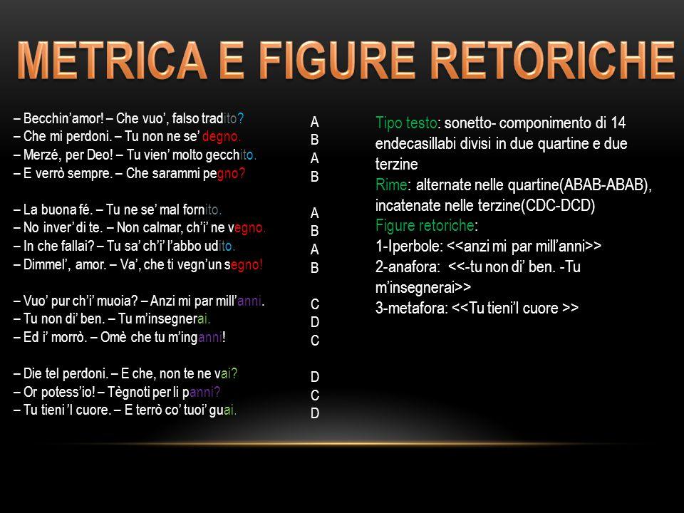 METRICA E FIGURE RETORICHE