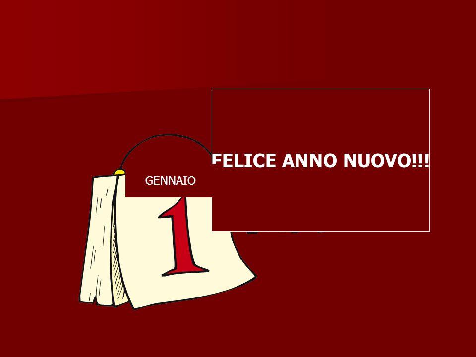 FELICE ANNO NUOVO!!! GENNAIO