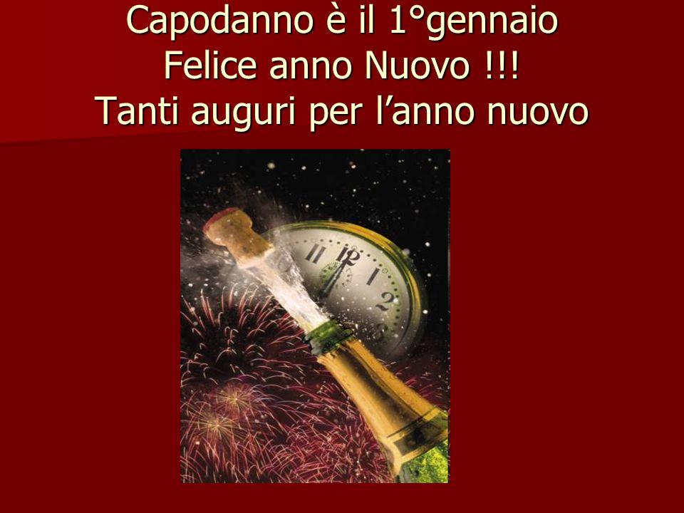 Capodanno è il 1°gennaio Felice anno Nuovo